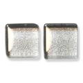 ガラスモザイク10 シルバー Silver(銀) 【クラフト用10mm角ガラスモザイクタイル】