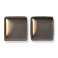 ガラスモザイク10 スティール・グレー Steel Gray(茶系) 【クラフト用10mm角ガラスモザイクタイル】