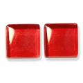 ガラスモザイク10 バーミリオン Vermilion(赤系) 【クラフト用10mm角ガラスモザイクタイル】