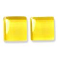 ガラスモザイク10 イエロー Yellow(黄色系) 【クラフト用10mm角ガラスモザイクタイル】