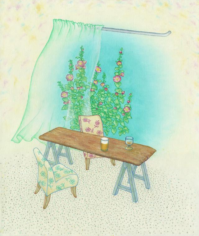 絵画「ほっと一息」リュウ/デジタル版画 ☆作品のみの購入はこちらで
