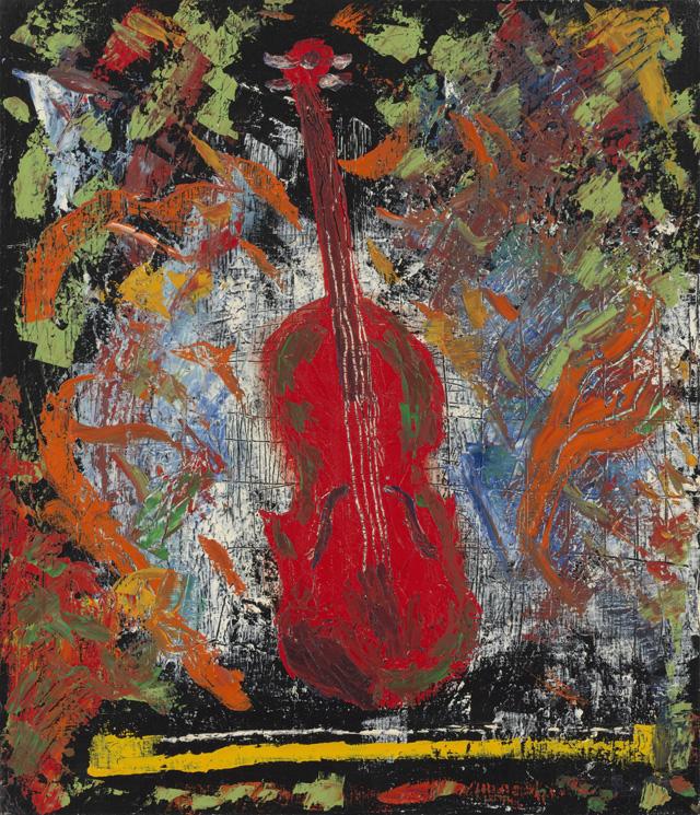 絵画「バイオリン」ヒロ榎本/デジタル版画 ☆作品のみの購入はこちらで