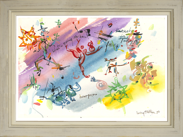 絵画「Hurrah For Today!」アーヴィング・ステットナー/ジクレー ☆雰囲気あるアンティーク調の白の額入