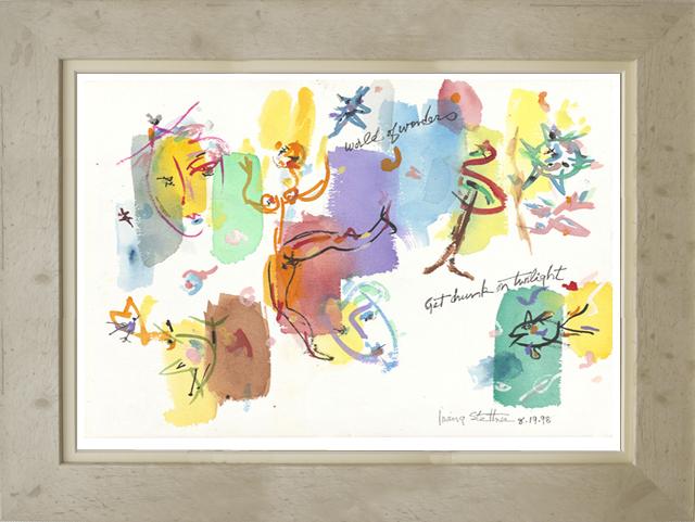 絵画「World Of Wonder」アーヴィング・ステットナー/ジクレー ☆スタイリッシュであじわいのある白の額入