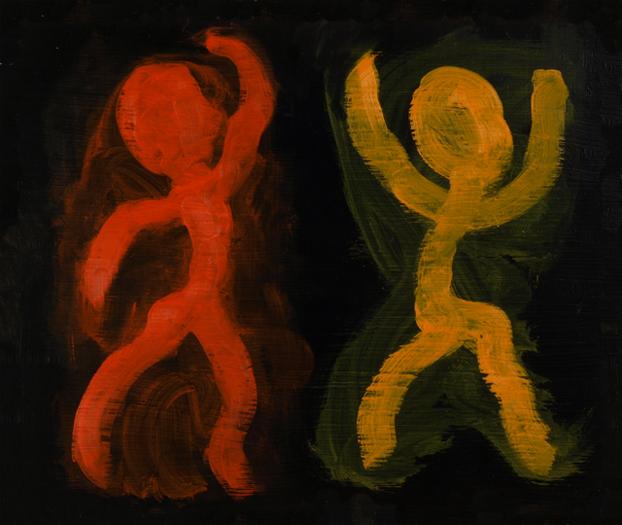 絵画「ダンス・ダンス」ヒロ榎本/デジタル版画 ☆作品のみの購入はこちらで