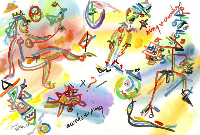 絵画「Sing And Awake!」アーヴィング・ステットナー/ジクレー ☆作品のみの購入はこちらで