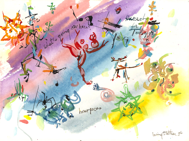 絵画「Hurrah For Today!」アーヴィング・ステットナー/ジクレー ☆作品のみの購入はこちらで