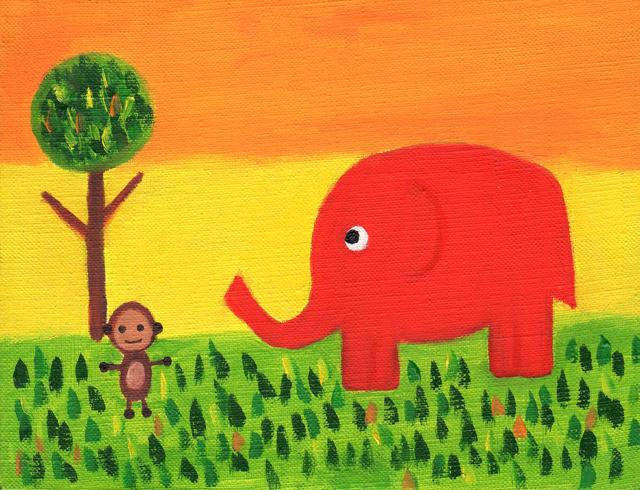 絵画「ジャングルポケット」小高武/原画(油絵) ☆原画のあじわいはまた格別