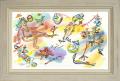 絵画「Sing And Awake!」アーヴィング・ステットナー/ジクレー ☆雰囲気あるアンティーク調の白の額入