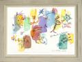 絵画「World Of Wonder」アーヴィング・ステットナー/ジクレー ☆雰囲気あるアンティーク調の白の額入