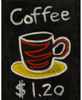 絵画「コーヒー」ヒロ榎本/デジタル版画 ☆作品のみの購入はこちらで