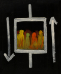 絵画「エレベータ」ヒロ榎本/デジタル版画 ☆作品のみの購入はこちらで