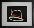 絵画「イタリアの帽子」ヒロ榎本/デジタル版画 ☆奥行のあるおしゃれな額入