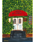 絵画「カフェ エルグレコ」小高武/原画(油絵) ☆原画のあじわいはまた格別