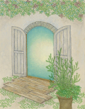 絵画「扉のむこう」リュウ/デジタル版画 ☆作品のみの購入はこちらで