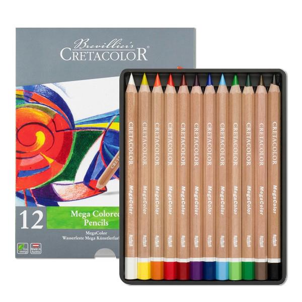 クレタカラー メガカラー色鉛筆 12色セット