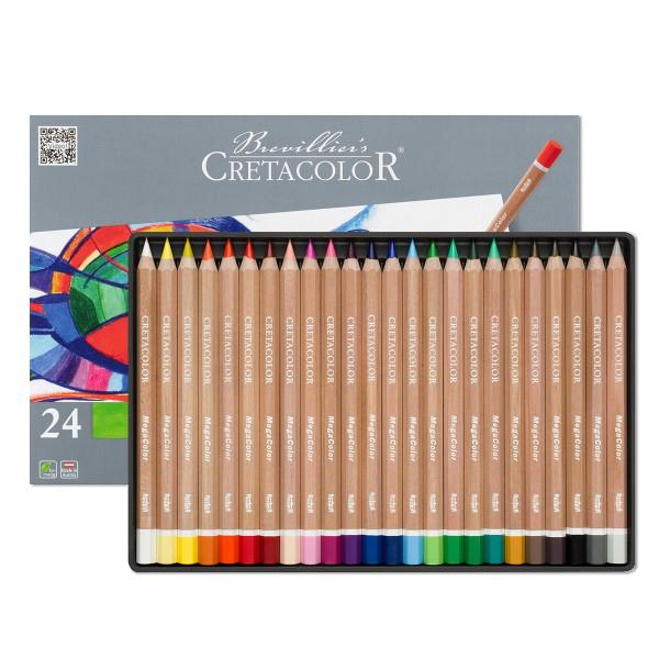 クレタカラー メガカラー色鉛筆 24色セット