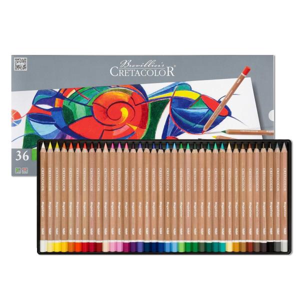 クレタカラー メガカラー色鉛筆 36色セット