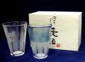 泡立ちグラス麦酒 ペアビャーグラスセット【名入彫刻】