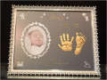 Baby手形足形ミラーフレーム3個セット《ルビー》