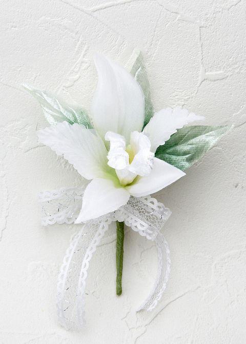 カトレアのミニコサージュ(ホワイト)