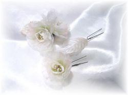 S-2043 洋装・和装両用髪飾りローゼ3点セット(ホワイト)