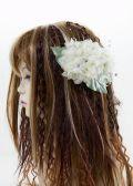 【特価SALE 髪飾り・ヘアアクセサリー】紫陽花−ライムグリーン・バレッタ