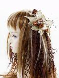 【特価SALE 髪飾り・ヘアアクセサリー】和洋両用−ゴールドブラウン・コーム