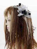 【特価SALE 髪飾り・ヘアアクセサリー】和洋両用−シルバーブラック・コーム