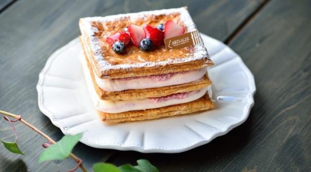 いちごのミルフィーユ ジェラートケーキ