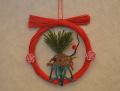 正月飾りミニリース 干支 亥付き