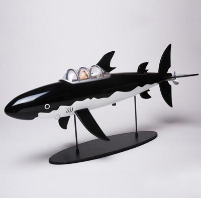 タンタン42cmレジン型模型 サメマリン号