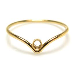 シェブロンリング(指輪)14kgfパーツ ベゼル 2mm ラウンド ゴールドフィルド (サイズ目安:16号) (1個)