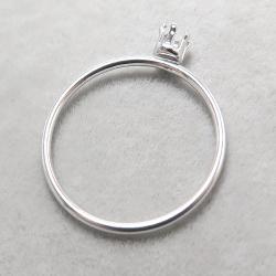 シルバーリングパーツ(指輪)空枠3mm(ラウンド/線径1mm)「SV925」(サイズ目安:10号)(1個)