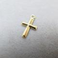 14kgfチャーム(クロス/十字架)【X】「ゴールドフィルド」(1個)