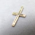 14kgfチャーム(クロス/十字架)【V】「ゴールドフィルド」(2個)