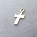 14kgfチャーム(クロス/十字架)【W】「ゴールドフィルド」(10個)
