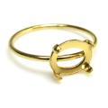 14kgfリングパーツ(指輪)4本爪カボション空枠8×6mm (横・オーバル)(サイズ目安:9号)「ゴールドフィルド」(1個)