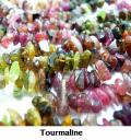 天然石トルマリン(マルチカラー)/さざれビーズ(さざれチップ)(*40cm)(25本)