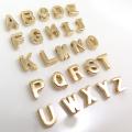 アルファベットチャーム イニシャルアクセサリーパーツ(真鍮ブラス・ゴールドカラー)(2個)