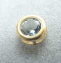 ゴールドフィルド・チャーム/天然石アクアマリン(ラウンド4mm)ベゼル「14kgf」(1個)