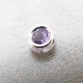 シルバー925/天然石アメジスト(4mm)ベゼル「sv925」(1個)