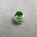 シルバー925/天然石クロムダイオプサイト(3mm)ベゼル「sv925」(1個)