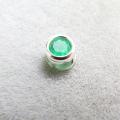 シルバー925/天然石エメラルド・ザンビア産/無処理(3mm)ベゼル「sv925」(1個)