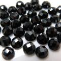 天然石ルース(裸石)ブラックスピネル/チェッカーボードカット(ラウンド)【4mm】(10個)
