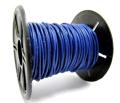 本革レザーコード・丸革紐/ブルー/1mm×10メートル×1本