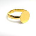 平皿(丸皿)指輪リング台(ラウンド10mm)(真鍮ブラス・ゴールドカラー)(20個)