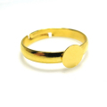 平皿(丸皿)指輪リング台(ラウンド6mm)(真鍮ブラス・ゴールドカラー)(20個)