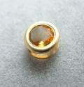 ゴールドフィルド・チャーム/天然石シトリン(ラウンド4mm)ベゼル「14kgf」(1個)