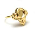 モチーフリング(14kgf指輪)(デザインA・カボション5mm)(サイズ目安:7号)「ゴールドフィルド」(1個)